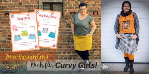 Schnittmuster für Curvy Girls - BIG LADY SHAY - ein Rock fürs ganze Jahr Design mialuna Papierschnittmuster von farbenmix