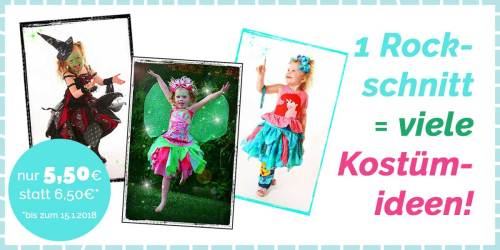 SchnittSchnappderWoche: farbenmix Blütenblätterrock - 1 Rockschnitt viele Kostümideen