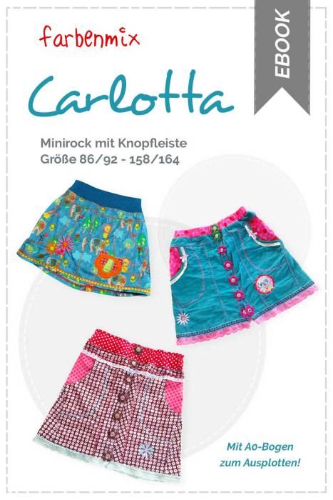 Minirock mit Knopfleiste nähen mit dem Schnittmuster CARLOTTA von farbenmix . jetzt auch als Ebook