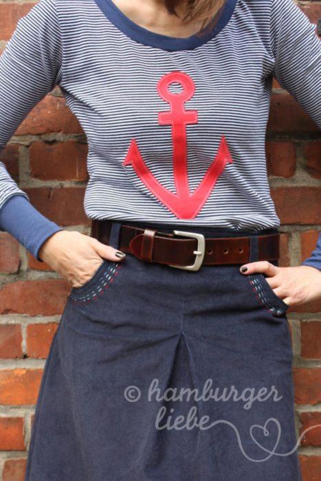 Damenrock nähen mit dem Schnittmuster AMY von farbenmix - Design Jolijou