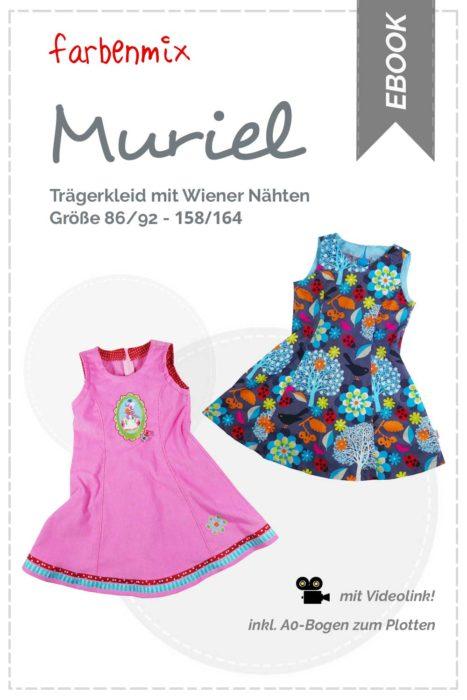Trägerkleid nähen mit Wiener Nähten - Schnittmuster muriel von farbenmix