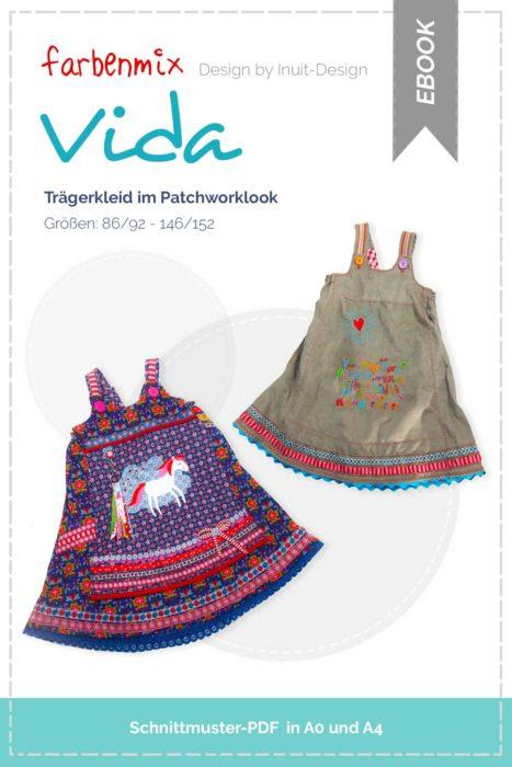 Schnittmuster für ein Einschulungskleid - Trägerkleid VIDA von farbenmix