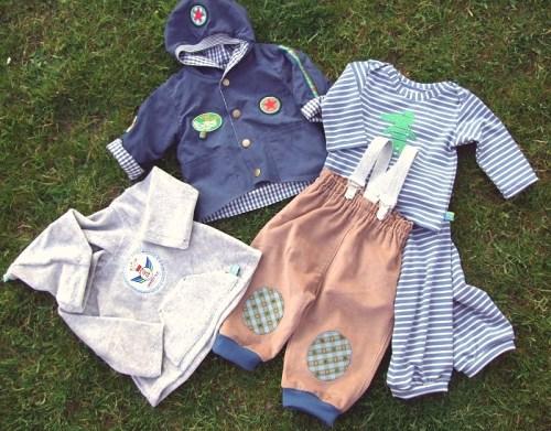 Babyausstattung nähen mit dem Schnittmuster für Babykleidung von farbenmix