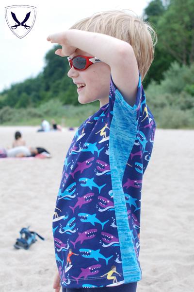 Raglangshirts für Jungs nähen mit dem sportlichen Schnittmuster von farbenmix Enfant sportif