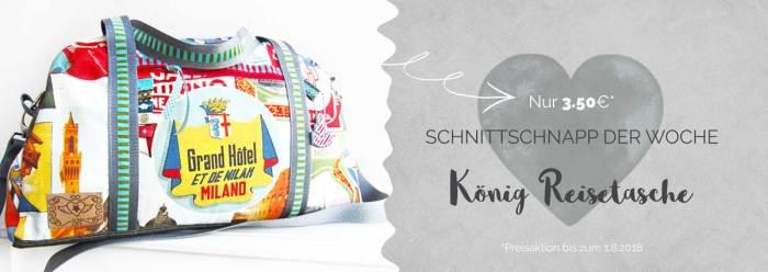 Reisetasche nähen mit dem SchnittSchnappderWoche KÖNIG von farbenmix.