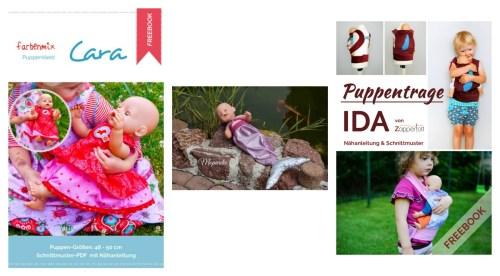 kostenlose Schnittmuster für Anfänger - Puppenkleider, Puppentrage nähen kostenloser Schnitt