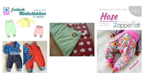 gratis Schnittmuster für Babies Frühchen - nähen lernen mit farbenmix - Wickelunterlage, Hose, Babykleidung