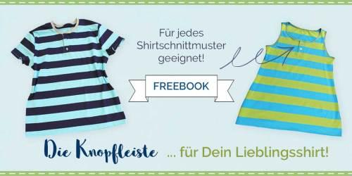 Neu als kostenlose Nähanleitung Henley Ausschnitt - Shirt mit Knopfleiste nähen - farbenmix Freebie