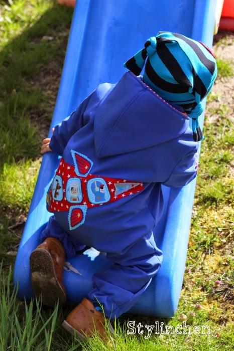 Softshell Overall für Kinder nähen mit dem Schnittmuster Tommy und den Tipps von farbenmix