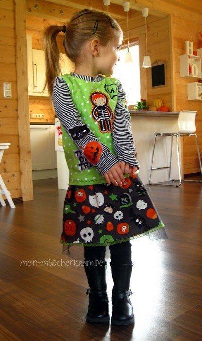 Halloween Kostüm selber machen mit Schnittmustern von farbenmix - schnell und einfach genäht