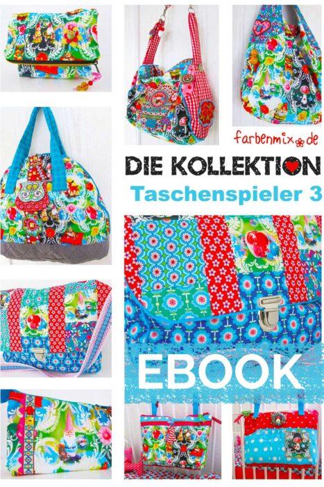 Taschenspieler 3 als Ebook Version jetzt neu bei farbenmix Taschenschnittmuster Sammlung nähen