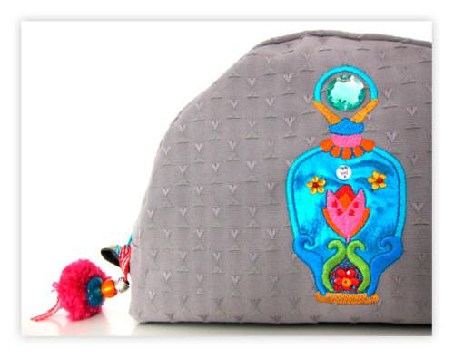 Kosmetik Tasche Schnittmuster farbenmix