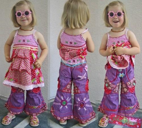 Mädchen Kinderhosen nähen mit WANDA von farbenmix als Papierschnitt und Ebook
