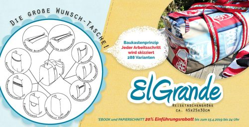 große Reisetasche nähen mit El Grande von farbenmix