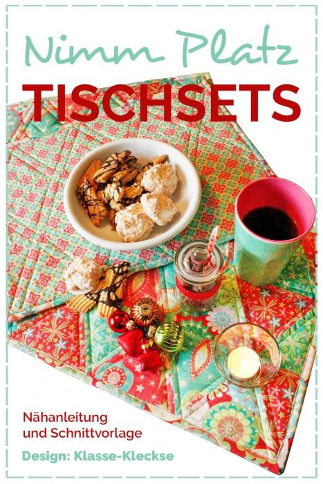 Hübsches für die Ostertafel - Tischsets gehören definitiv mit dazu. Nähanleitung und Schnittvorlage von farbenmix