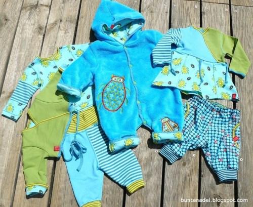 Näh dir die Garderobe für dein Baby selber - mit der Schnittmustersammlung Zwergenverpackung 1 & 2