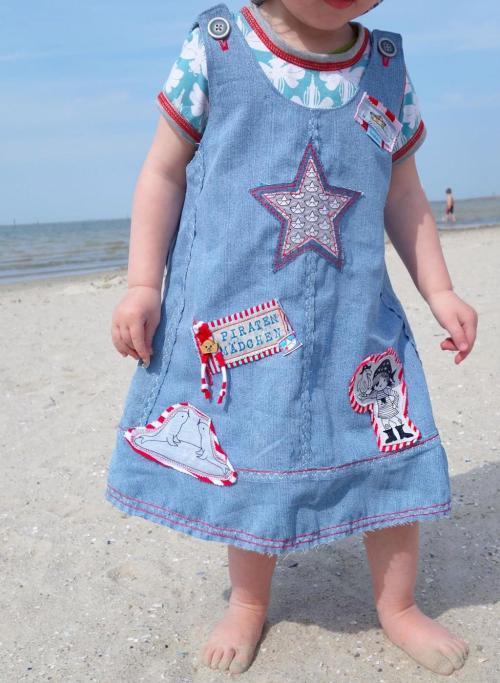 oona von farbenmix - Kinderkleid mit Trägern - nähen für Anfänger - Schnittmuster von farbenmix