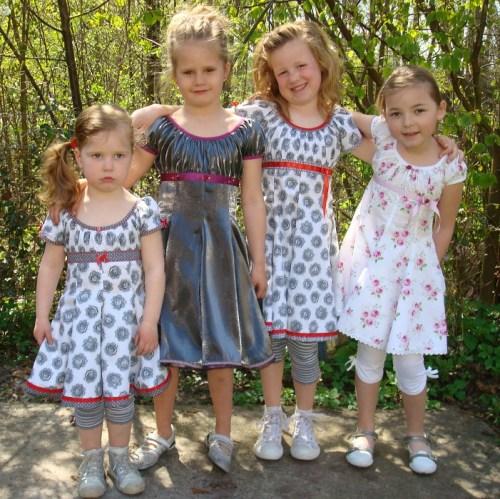 Prinzessinnenkleid selber nähen mit Elodie Schnittmuster von farbenmix