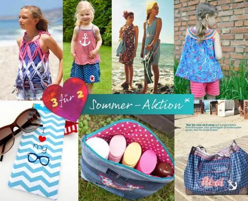 Nähen für den Urlaub unsere Sommer Aktion kaufe 3 Schnittmuster und bezahlen nur 2 jetzt bei farbenmix