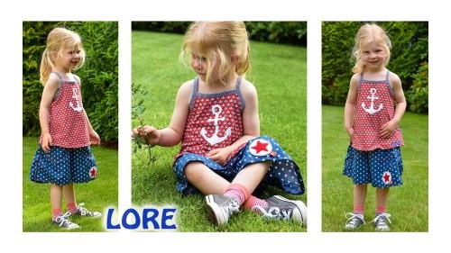 Sommertop und Hosenrock - Schnittmuster Kombi Lore von farbenmix für Kinder die es gerne bequem mögen