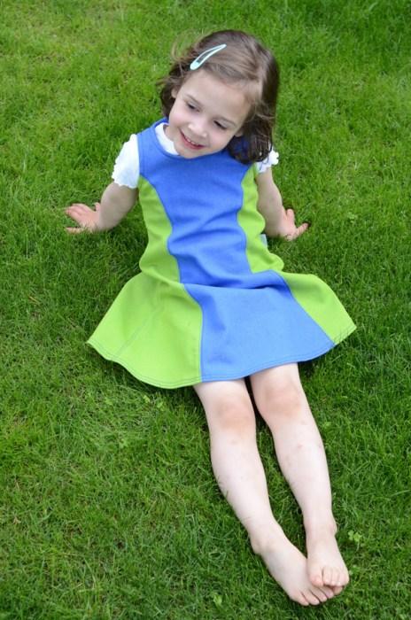 Kinderkleid mit Wiener Nähten nähen