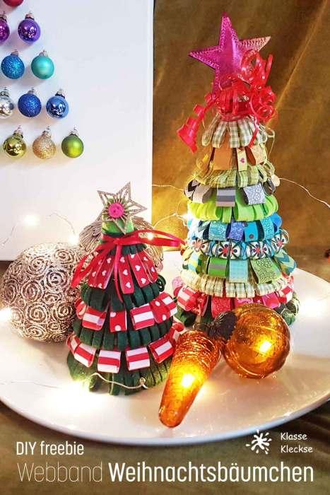 Weihnachtsbaum aus Webbändern