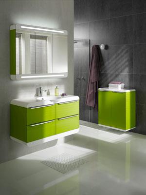Meubles de salle de bains hauts en couleur  Inspiration bain