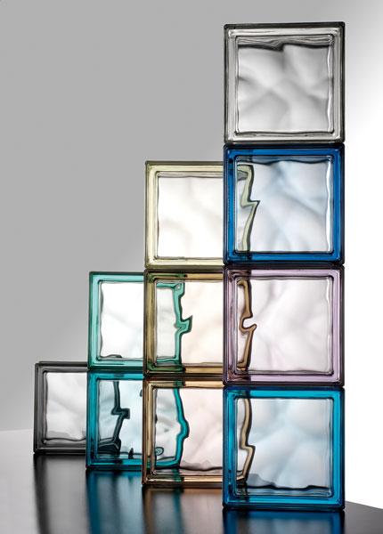 La brique de verre dans la salle de bains  Inspiration bain