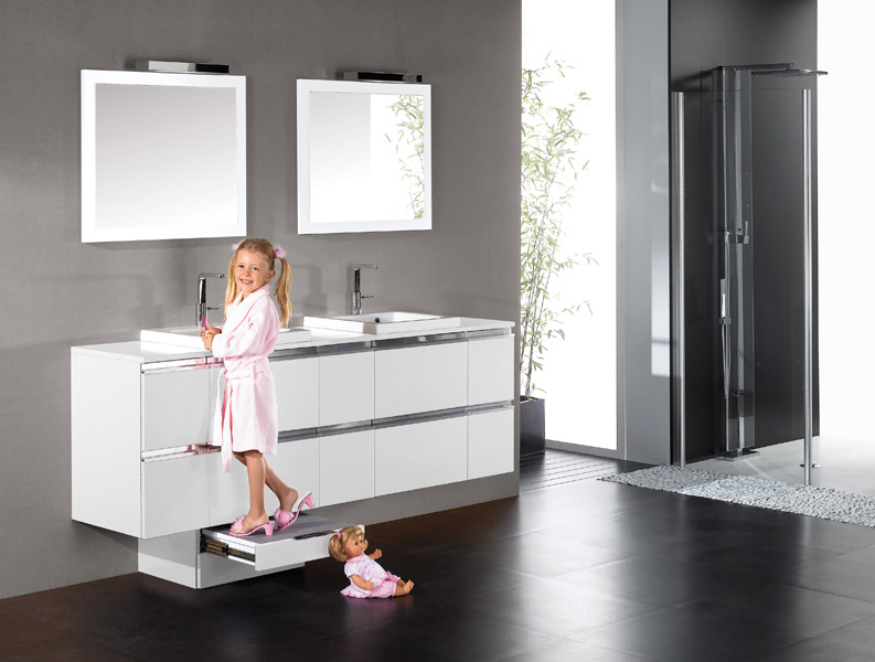 Home La Salle De Bains Evolutive De Bloc Miroir Inspiration Bain