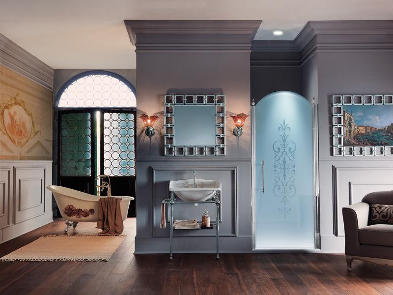 La paroi de douche de style baroque de Samo  Inspiration bain