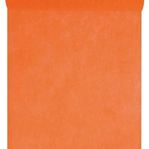 Chemin table intissé orange
