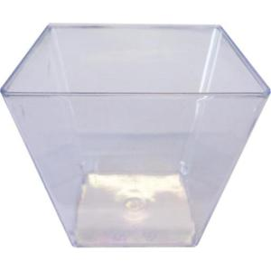 Coupelle carrée cristal