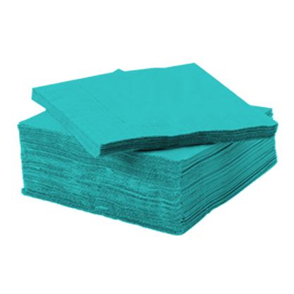 Serviette ouate de cellulose turquoise