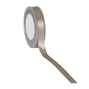 Ruban double satin 15mm taupe