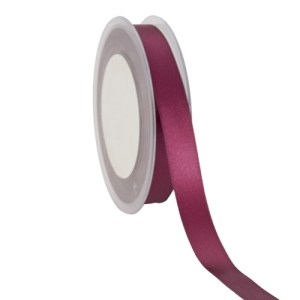 Ruban double satin 15mm lie de vin
