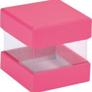 Boite cube fuchsia