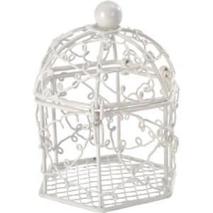 Cage métal blanc