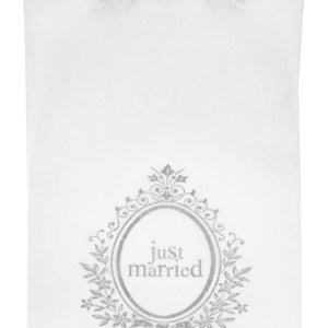Chemin table just married blanc