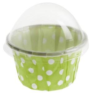 Cupcake à pois vert