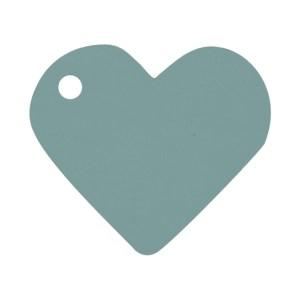 Étiquette cœur gris