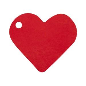 Étiquette cœur rouge