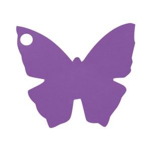 Étiquette papillon prune