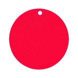Étiquette rond rouge