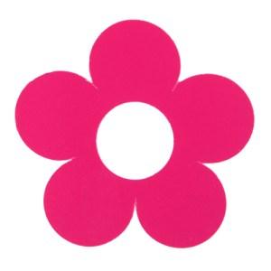 Marque-place fleur fuchsia