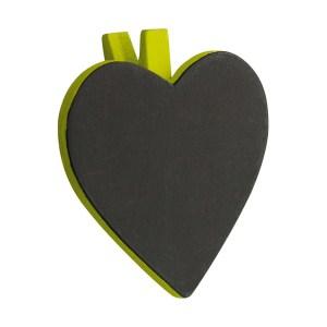 Pince coeur vert