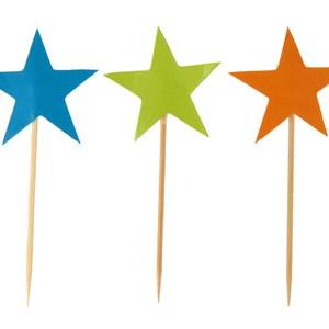 Pique étoile multicolore