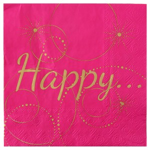 Serviette happy fuchsia
