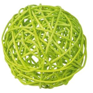 Boule rotin grande verte