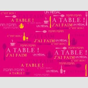 Set de table miam fuchsia
