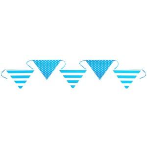Banderole rayure et pois - turquoise